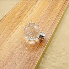 Kristall Glas Moebelgriffe sphaerisch Moebelknauf Moebelknopf Schrauben Moebelgriffe Schrankgriff weiss 5pcs 30mm