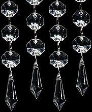 Kristall Haengend Perlenketten - SODIAL(R) 30Stk Acryl Kristallklar Girlande Haenge Perlen Vorhang Hochzeit Club Party Dekoration