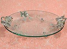Kristall Obst Korb Ständer,Obst Korb Schüssel Stand Kompott Für Hochzeitsfest Gäste Unterhaltung Veranstaltungen Anzeigen L17*W12*H3inch