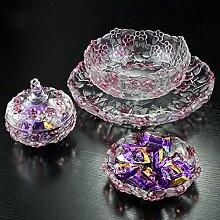 Kristall obst set korb ständer,Obst korb schüssel stand kompott für hochzeitsfest gäste unterhaltungsveranstaltungen anzeigen-A