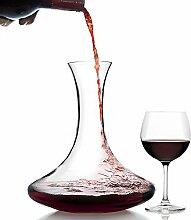 Kristall Rot Wein Dekanter 1,75l–100% bleifreies Kristallglas Karaffe, perfekt Wein Geschenk, Wein Zubehör