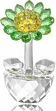 Kristall-Sonnenblumen-Figur, Briefbeschwerer,