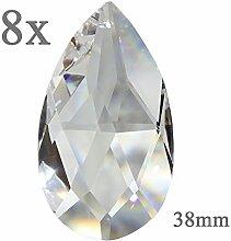 Kristall Tropfen 38mm 8 Stück Sonnenfänger