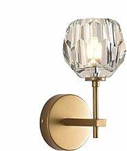 Kristall Wandleuchte, Ball Schatten Gold 100%