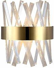 Kristall Wandleuchte, E14 Moderne Edelstahl