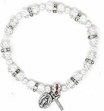 Kristall Wundertätige Rosenkranz Armband, Single