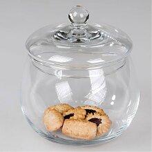 Kristallglas Dose, Bonboniere D. 16cm Glas Formano