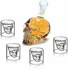 Kristallglas Shotglas Schnapsglas, Totenkopf,