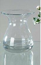 Kristallglas Vase, Dekoglas, rund, H.17 cm,
