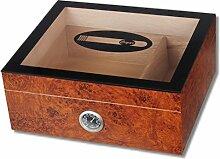 Kristallglas Wurzelholzfinish Humidor Cigar V-440