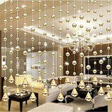 Kristallklare Girlande, hängende Perlenvorhang,