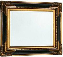 Kristallspiegel schwarz gold Wandspiegel Barock 50x60 Spiegel Badezimmer Antik