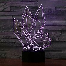 Kristallstein 3D Lampe 20 Farben LED Nachtlampen
