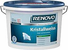 Kristallweiß 1 L matt Wandfarbe Deckenfarbe Renovo