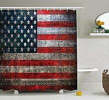 KRISTI MCCARTNEY American Flag Shower Curtain by,