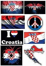 Kroatien A4 Sticker Aufkleber-D29 Klebeband