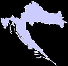 Kroatien Aufkleber in 7 Größen und 25 Farben (50x49cm flieder)
