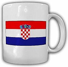 Kroatien Fahne Flagge Republika Hrvatska - Kaffee Becher Tasse #13665