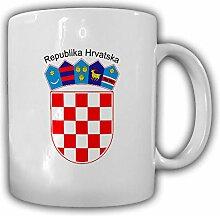 Kroatien Wappen Emblem Republika Hrvatska - Kaffee