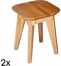 Krokwood 2 x Esszimmer Stuhl Massivholz Buche FSC
