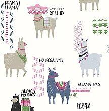 Krone Drama Lamas themenbezogene Wand Tapete in