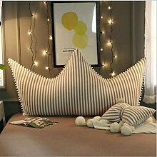Krone Prinzessin Zimmer Bett Rückenlehne Weich Kopfteil Kissen Mit 100% Baumwolle Abdeckung Lange Bedside Kissen Mit Multi-Stile Gewählt,G-39*31inch(100*80cm)