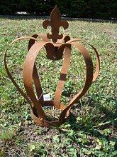 Krone Rost, Edelrost, Deko, aus Metall, Höhe: ca. 28cm