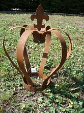 Krone Rost, Edelrost, Deko, aus Metall, Höhe: ca. 38cm