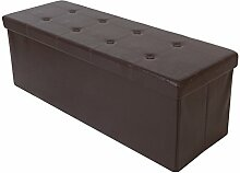 Kronenburg 110 x 38 x 38 cm - Sitzbank Faltbar Sitzwürfel Aufbewahrungsbox Belastbar bis 300 kg - Braun