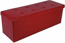 Kronenburg 110 x 38 x 38 cm - Sitzbank Faltbar Sitzwürfel Aufbewahrungsbox Belastbar bis 300 kg - Weinro