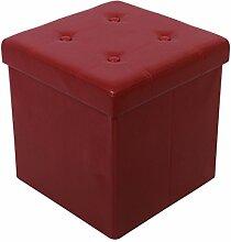 Kronenburg 38 x 38 x 38 cm - Faltbarer Sitzhocker Sitzwürfel Aufbewahrungsbox Hocker Weinro