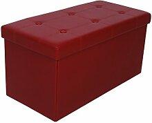 Kronenburg 76 x 38 x 38 cm - Sitzbank Faltbar Sitzwürfel Aufbewahrungsbox Belastbar bis 300 kg – Weinro