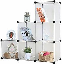Kronenburg Stufenregal Regal Regalsystem Schrank Kleiderschrank Garderobe Bücherregal Kommode - 112 x 112 x 37 cm - Transparen