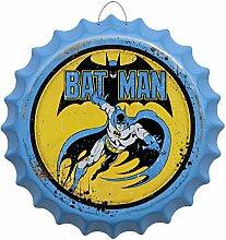 Kronkorken Bat Man Rund Blechschild Ø 41 cm Bar Deko Reklame Schild Blech KK31