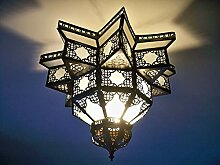 Kronleuchter Deckenleuchte Marokko Glas satiniert