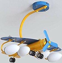 Kronleuchter E27 * 4 Junge Zimmer Cartoon Flugzeug