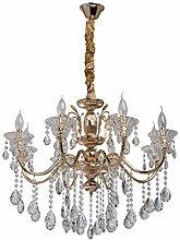 Kronleuchter Kerzen Kristall Gold Klassisch 8