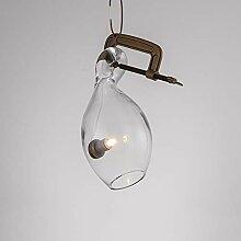 Kronleuchter LED Glas-Deckenleuchte Gelb warmes