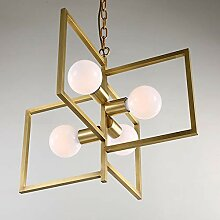 Kronleuchter LED Kupfer Glas-Deckenleuchte Gelb