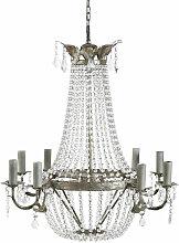 Kronleuchter mit Behang aus Metall
