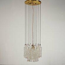 Kronleuchter mit Glasspiralen, 1970er