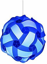 Kronleuchter Puzzle Lampe Schatten / Jigsaw IQ Light Decke Schatten der zeitgenössischen Pendelleuchte Schirm Beleuchtung Durchmesser 40cm Dekoration für Wohnzimmer etc. Zimmer (Red Rose) deep blue