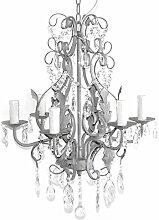 Kronleuchter SHABBY GREY 6-armig antik grau