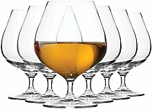 KROSNO Brandy Cognac Snifter Gläser   6 Stück  
