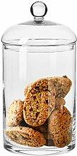 Krosno Große Bonboniere Glas Keksdose Glasgefäß