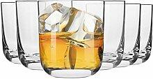 Krosno Whisky-Gläser kristallgläser | Set von 6