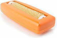 Krümelbürste Crumpy, Krümelroller Tischroller Tischbesen Teppichbürste Tischkehrer Handstaubsauger Tischdecken Bürste Auto Caravan Staubsauger Rapido Aspiratutto Orange