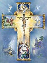 Kruzifix Diamant Malerei 5D DIY Voll Bohren Jesus
