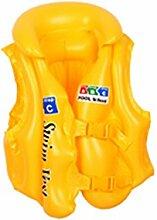 Kry aufblasbares Schwimmbecken Life Jacke Weste Kinder float Hilfe Badeanzug AUX Training Produkte Gelb gelb C