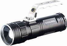 KryoLights Handstrahler: LED-Akku-Taschenlampe